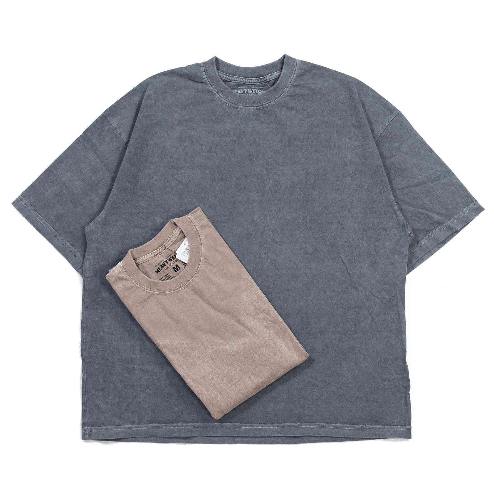 CO-BALT SSZ Branded Healweight Collections Baumwollwaschbügel Batik Kurzarm T-Shirt
