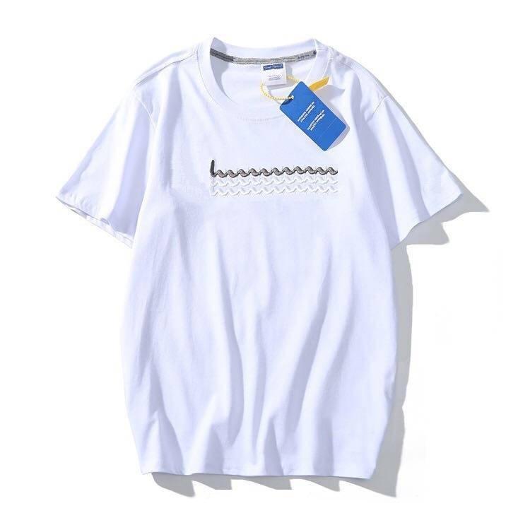 Großhandel Frauen S T-Shirt T-Shirt T-Shirt Gute Qualität Buchstaben stickerei hohe männer frauen t-shirt frühling sommer herbst paar tops tee casual baumwolle