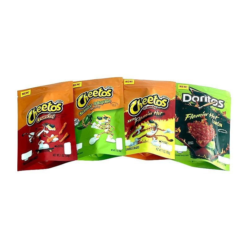 Snack vuoti Cheetos Chips Edibles Borse Mylar Flaminhot Doritos Zipper Top Stand Sacchetto medicato Gedifica commestibile Borsa da imballaggio