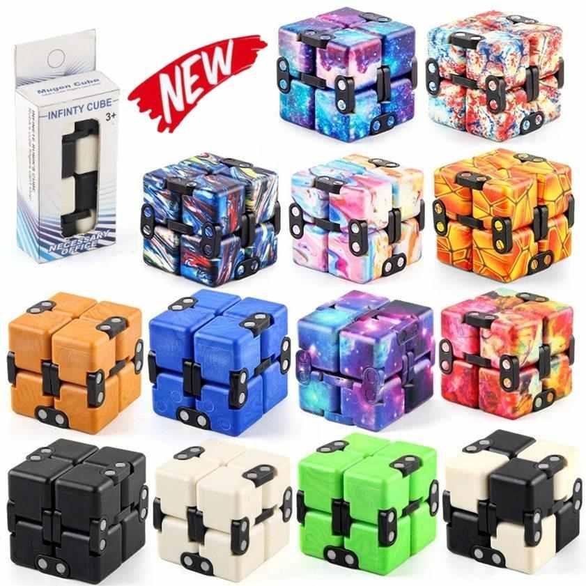 Infinity Magic Cube Creative Galaxy Fitget Toys Antistress Oficina Flip Puzzle Cubic Mini Blocks Discompression Toy DHL 3-7 DÍAS ENTREGA CY15