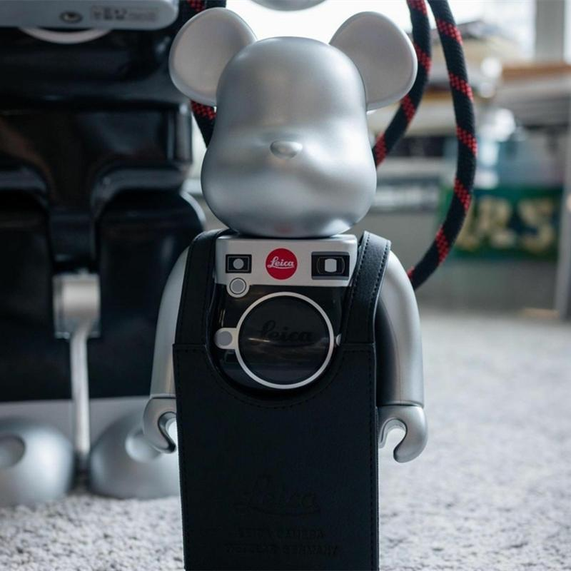 new Violence 28cm building block bear bearbrick Leica M series camera 400% trend ornament handmade children's gift