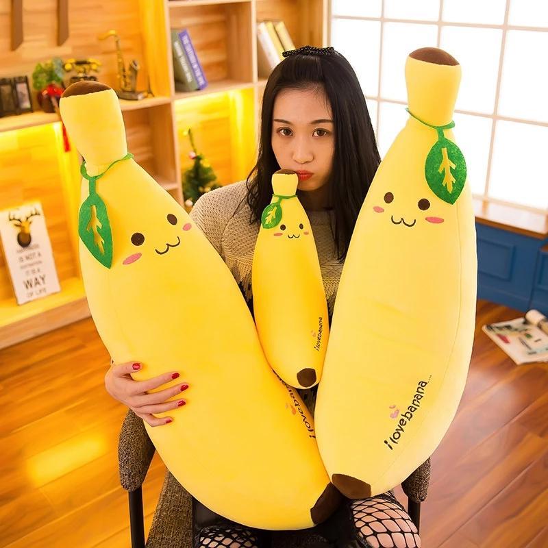 35 سنتيمتر مصغرة لطيف الكرتون الموز أفخم لعبة لينة نبات الموز وسادة سوبر لينة الاطفال اللعب طفل أطفال تزيين المنزل هدية عيد الميلاد