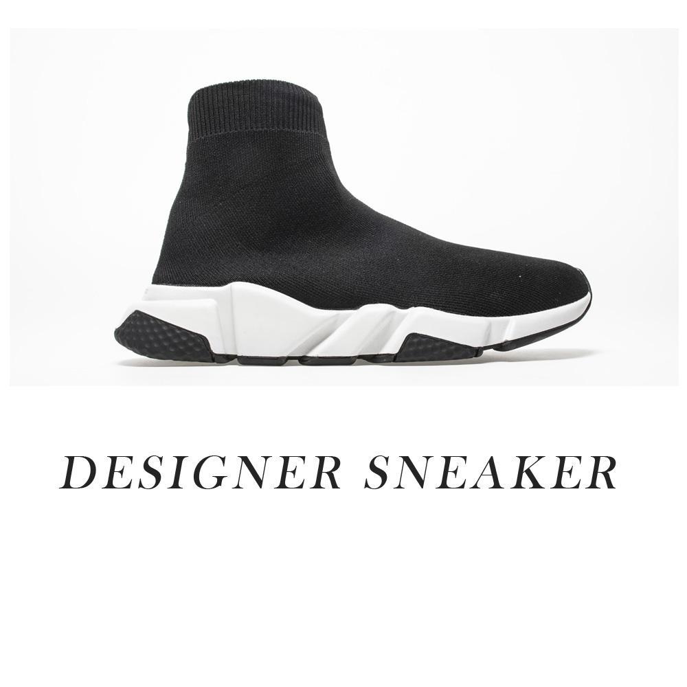 2021 Homens e Mulheres Designer Sapatos, Speed Trainer Sneakers, Vermelho Preto, Executando Sapatos Esportivos Suporte Atacado A1