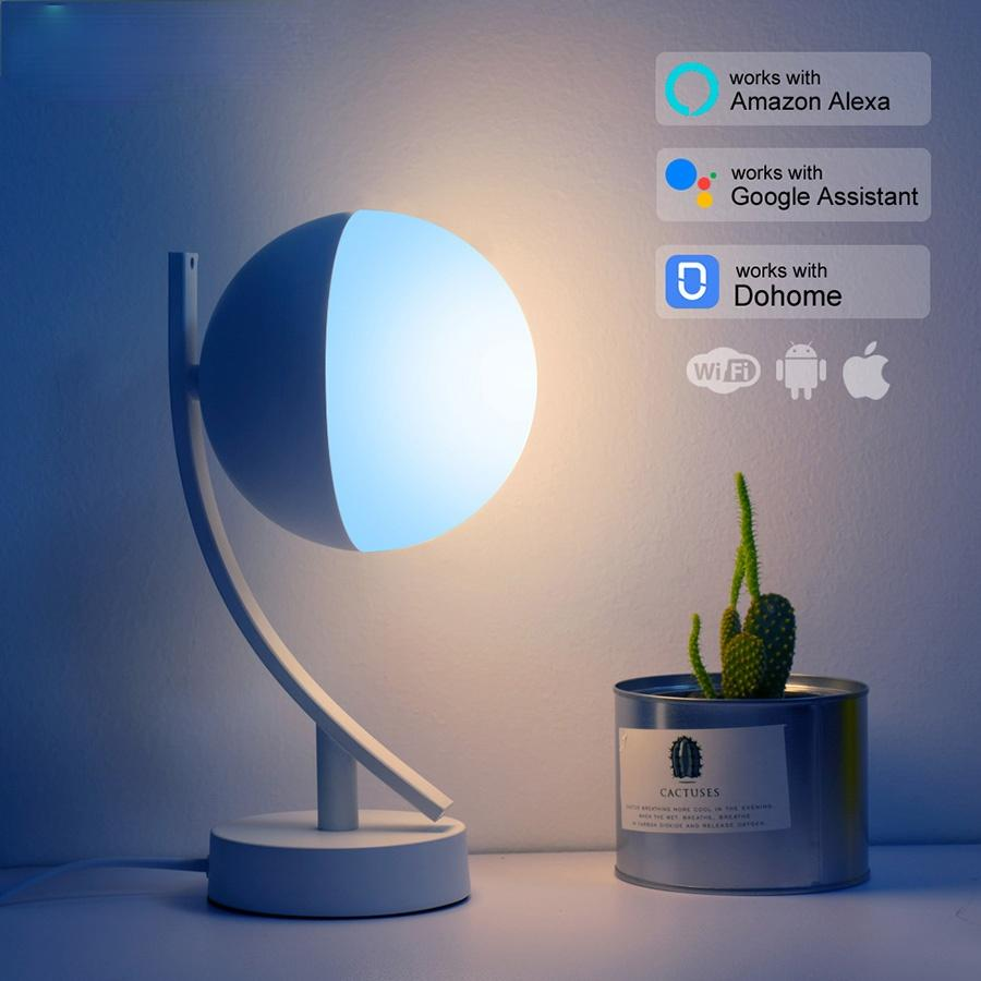 RGB LED Desk Lamps 7W Smart Voice LED Control WiFi App Remote Dimmable Bedroom Table Night Lights Work With Alexa Google Home