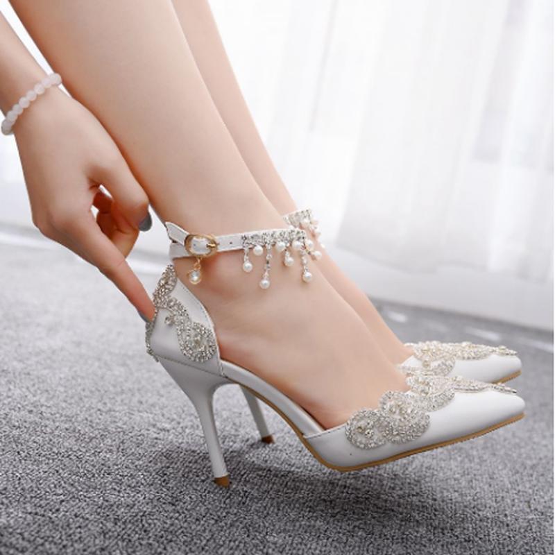 High Heeled Shoes Women Sandals Wedding Banquet Fashion Diamond Heels