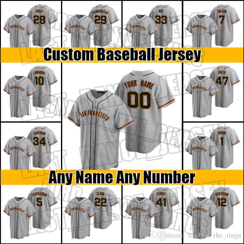 40 Madison Bumgarner Giants Brandon Crawford Jersey San Francisco Buster Posey Jerseys Madison Bumgarner Baseball Mike Yastrzemski NS98FC