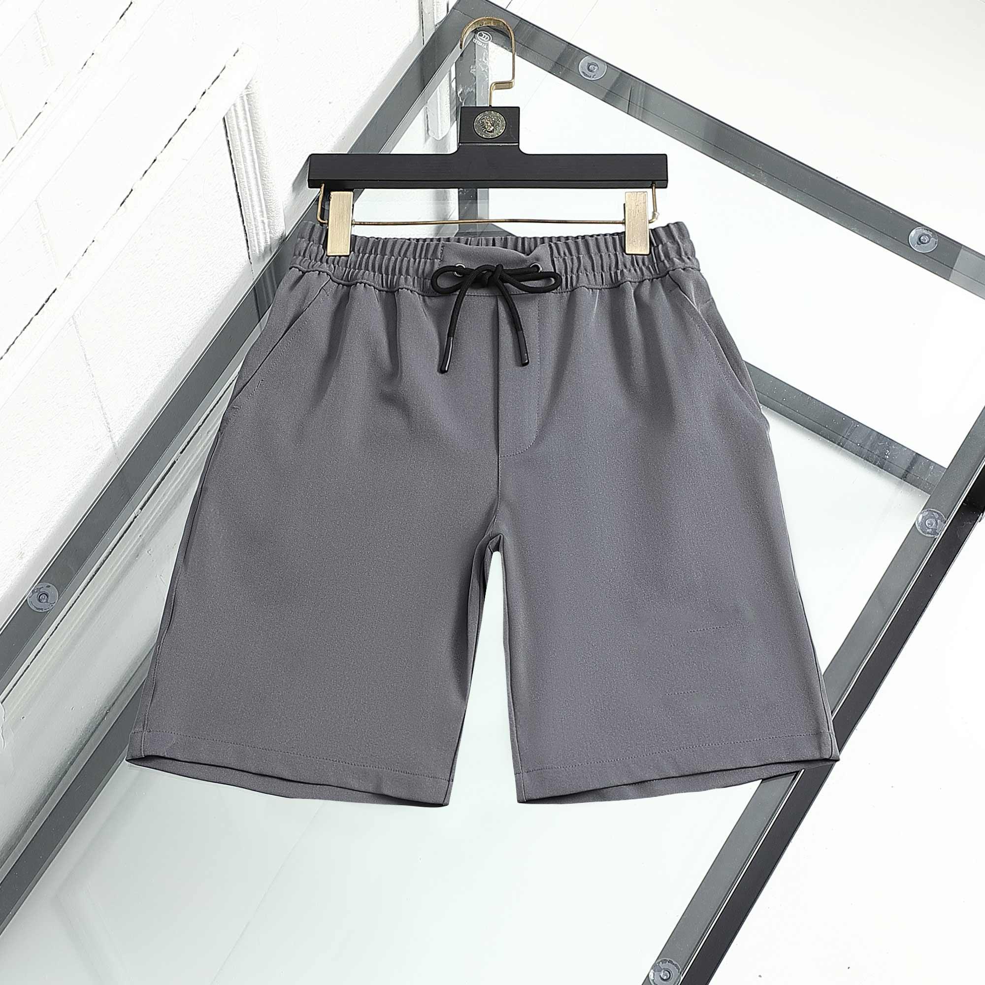 Mens Shorts Luxo Designer Esporte Summer Curto Moda Marca Tendência Pura Algodão Respirável Roupas Curtas Lapela No01