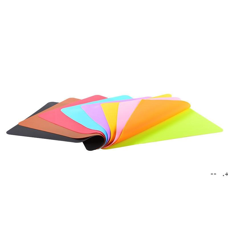 40x30cm Silicone Mats Baking Liner Muiti-function Silicone Oven Mat Heat Insulation Anti-slip Pad Bakeware Kid Table Placemat GWF10052