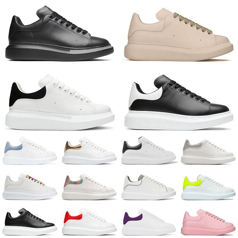 2021 Platform Shoes Flat Casual Designer Espadrillas Espadrillas oversize in pelle da uomo donna Nero Bianco Luxury Sports Eur 36-44