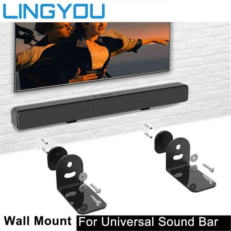 Yutong Lingyou Universal Sound Bar Support Support de montage pour Xiaomi / Samsung / Sonylg / JBL / Polk Audio / Bose TV Haut-parleur Soundbar Montage mural