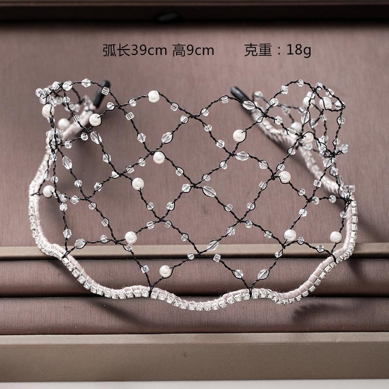 Niancanxin Niang Haarschmuck Europäische und amerikanische Hochzeitskleid Eisen Draht Haarband Stirnband Perle Einfachheit großzügige Hochzeitsorinen