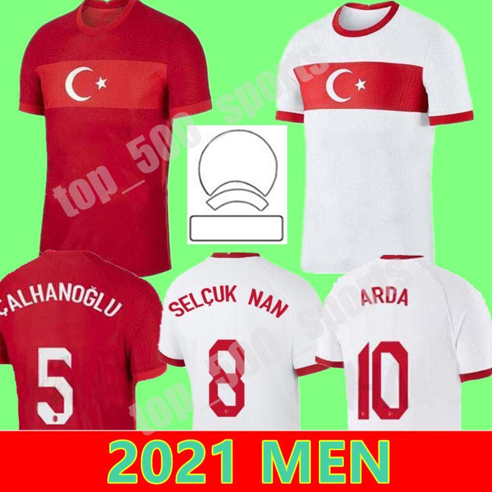 حجم S-XXL 2021 تركيا فريق National Soccer Jersey 21 22 يازيكي Caglar Söyüncü Demiral Ozan Kabak Calhanoglu سيليك Homa بعيدا قمصان كرة القدم