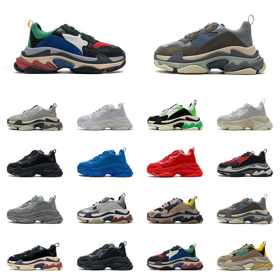Triple S أحذية رياضية 17fw المدربين 8- الطبقات تسولي أحذية رجالي إمرأة باريس الوردي الأسود الأبيض إلكتروني الأخضر أبي الرجعية مصمم عارضة المدرب
