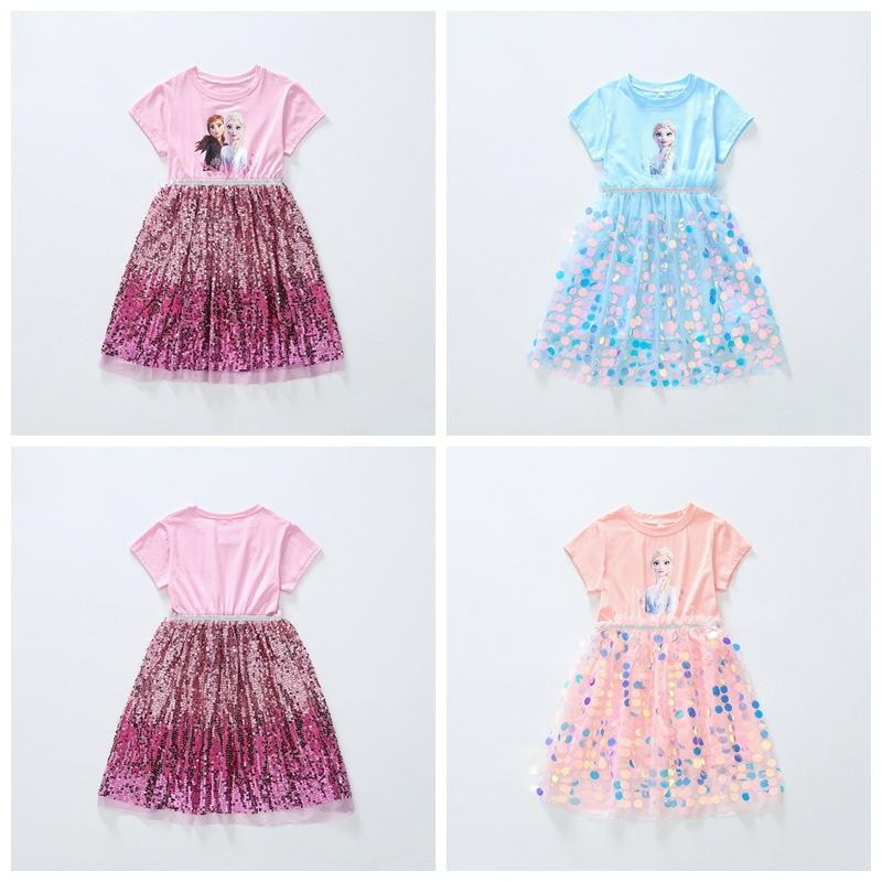Detailhandel / Groothandel Baby Meisje Cartoon Lovertjes Katoen Prinses Jurk Kinderen Ontwerpers Kleding Kinder Boutique Kleding