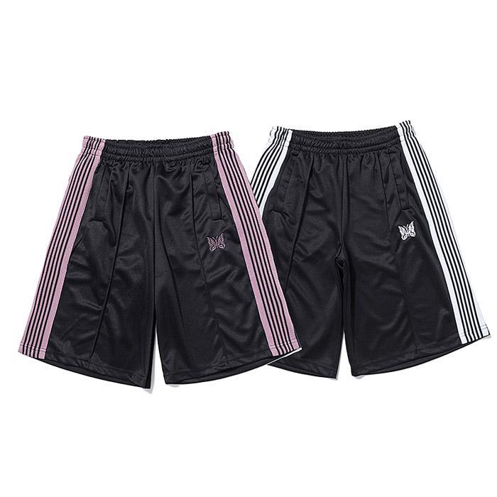 21SS 디자이너 반바지 높은 거리 짧은 바지 바늘 리본 남자 여름 스포츠 스웨트 팬츠 힙합 Streetwear Mens 의류