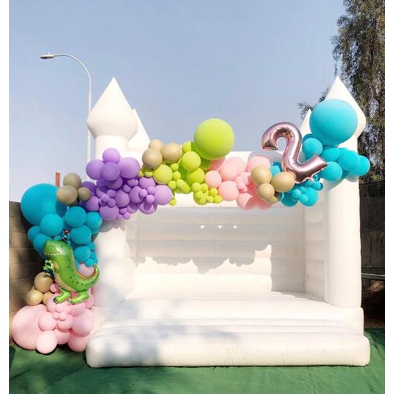 13x13ft-4x4m Bouncer de casamento inflável ao ar livre, Branco Bounce Casa Festa de Aniversário Jumper Castelo Bouncy