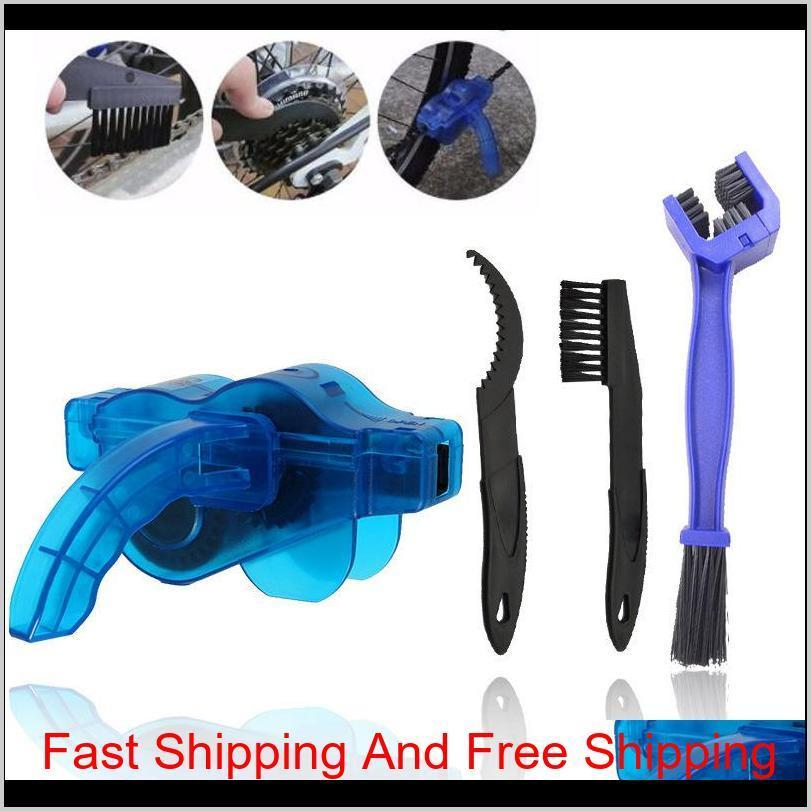 Lubrication Maintenance Sports Outdoors Cycling Bike Bicycle Chain Wheel Wash Cleaner Tool Cleaning Brushes Scrubber Set Clean Repair