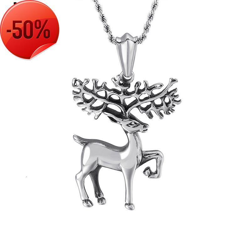 Rings Popular Jewelry Korean Temperament Elk Necklace Lovely Christmas Pendant for Men And Women