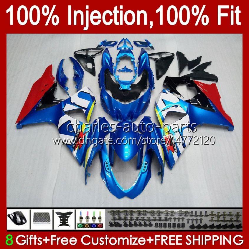 Injection de Suzuki GSXR-750 GSXR600 Bleu GLOYSY NOUVEAU GSXR 600 750 CC 10HC.3 GSXR750 11 12 13 14 14 2015 2016 2017 K11 GSXR-600 600CC 750CC 2011 2012 2013 2014 15 16 17 Catériel