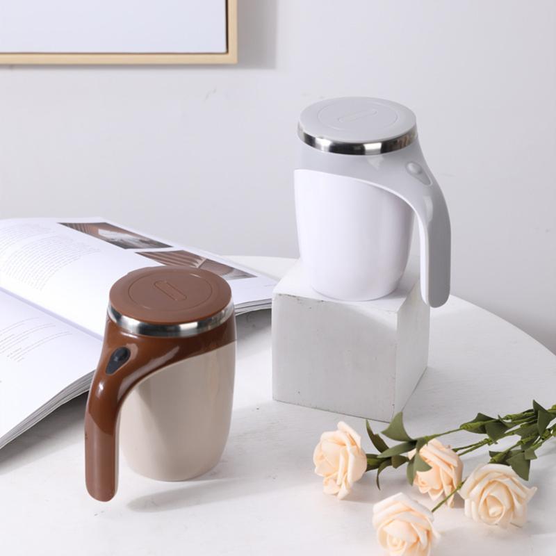 380 ml kahve otomatik karıştırma fincan kendinden karıştırma kupa paslanmaz çelik ev j99store kupalar
