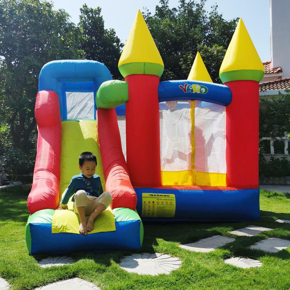 Quintal em estoque Indoor Brinquedos ao ar livre Bounce Casa Inflatables Trampoline Baby Jumpers Castelo Bouncy com Slide