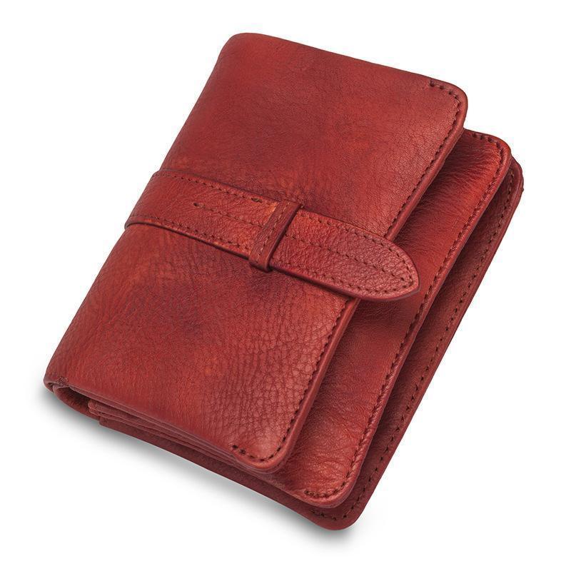 Vintage Genuine Leather Bolsa Mulheres Mulheres Cowhide Dinheiro Saco Carteiras Homens Titular De Cartão De Visita Alta Qualidade