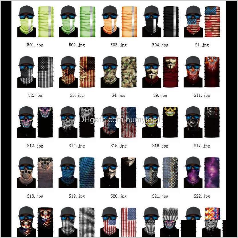 Caps Máscaras de Ciclismo de Engrenagem de Proteção Esportes Ao Ar Livre 3D Esporte Neck Skule Bandanas Shield Máscara Máscara Headband Bandana Headwear Rin