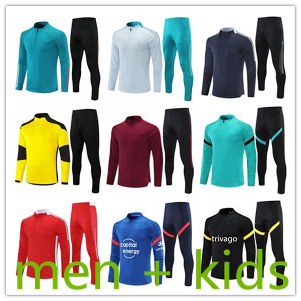 2021 ДЕТИ + МУЖЧИНЫ ФУТБОЛУТЬ ОБУЧЕНИЕ ОБУЧЕНИЯ ТОРГОВЫЙ КОМПЛЕКТУЮЩИЙ КОМПЛЕКТ ОТДЕЛЕНИЯ Футбол футбол Chandal Futbol Дизайнеры Tracksuits jogging