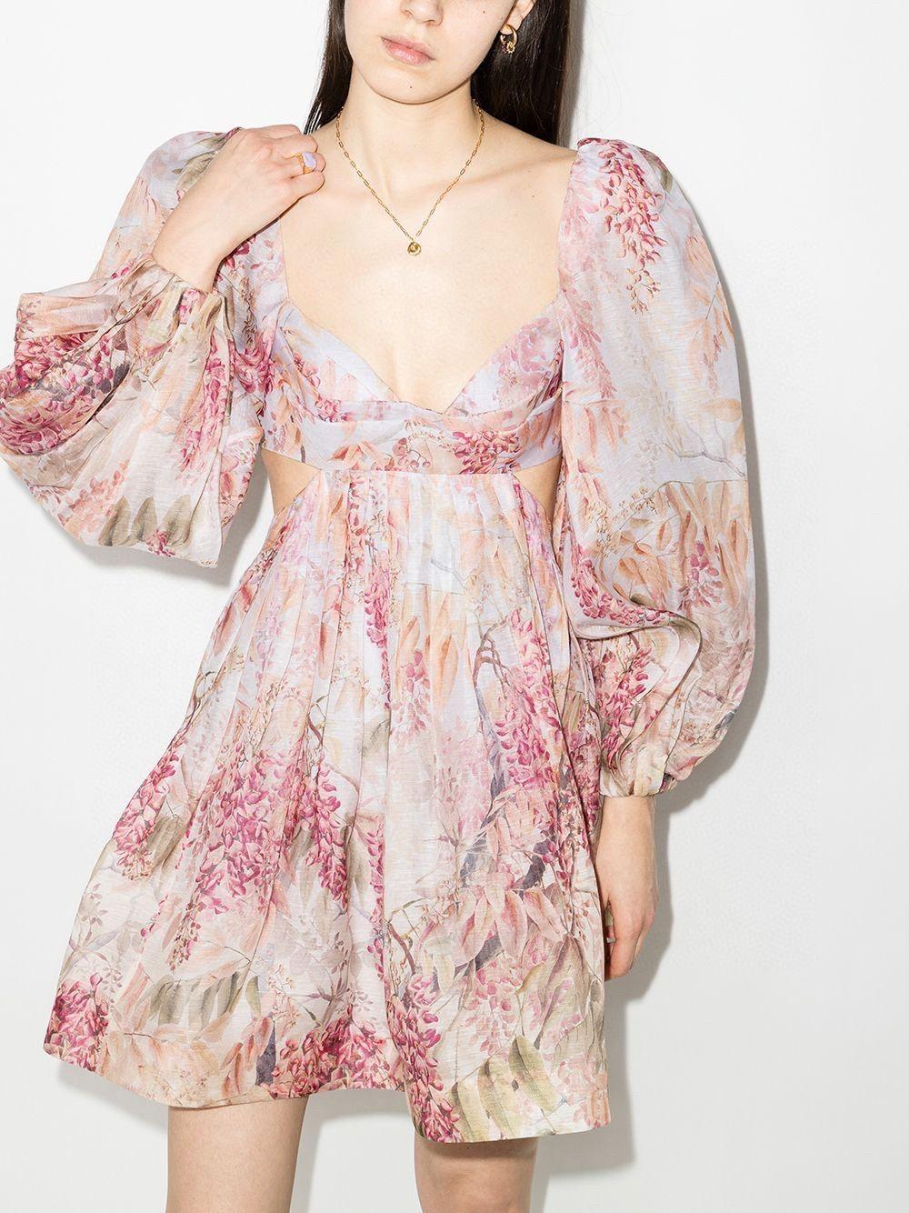 El mismo diseño francés vintage de la estrella, vestido de vacaciones floral sin espalda vintage sin esponja, falda mullida