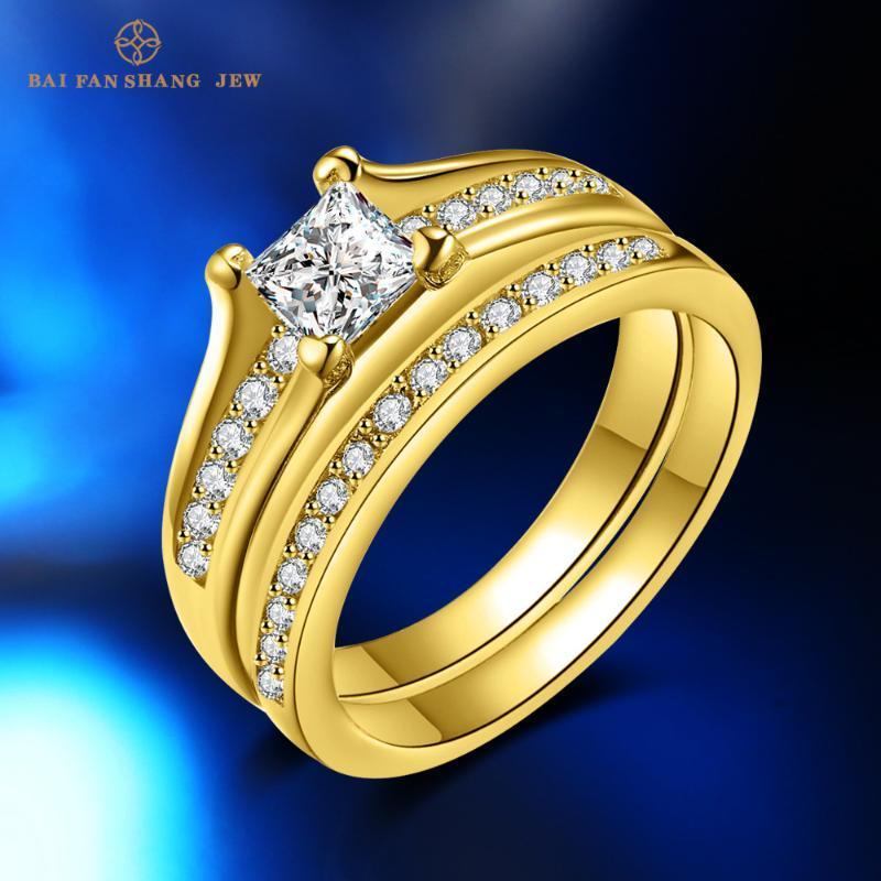 Modeschmuck Europäische und amerikanische Zirkon Gold Ring Frauen Engagement Valentinstag Geschenk-Cluster-Ringe