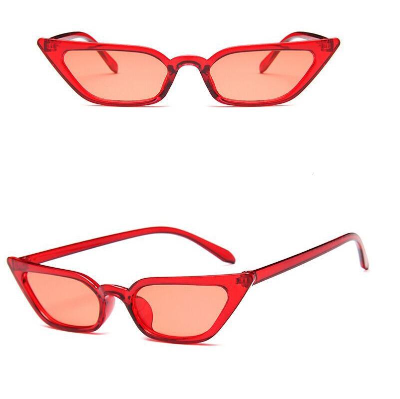 Cute Sexy Retro Cat Eye Sunglasses Women Black White Triangle Vintage Sun Glasses For Male Female UV400