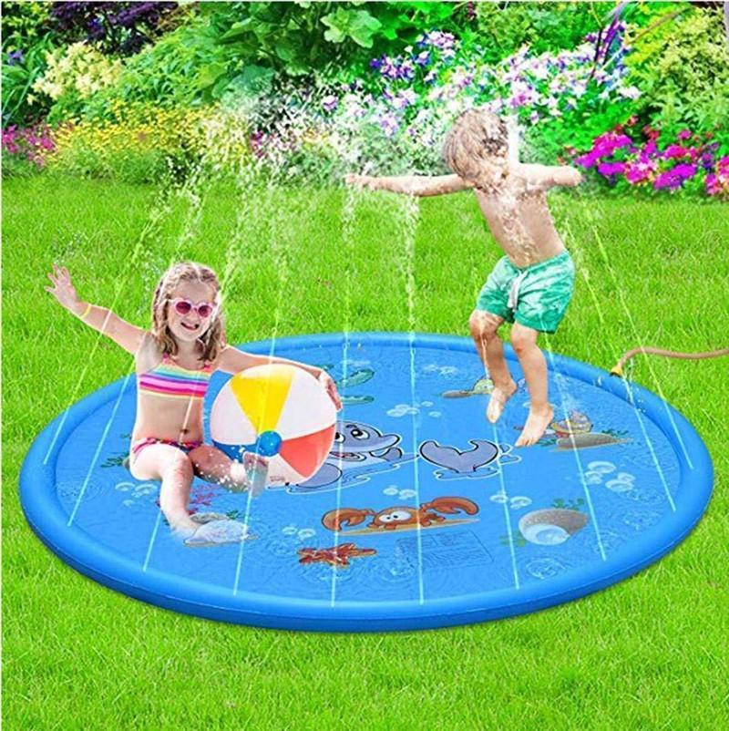 170 cm gonfiabile spruzzo acqua tappetino gonfiabile animale acque jets divertimento giochi bambini spruzzatore gioco tappetini tappeto beach cuscino giocattoli