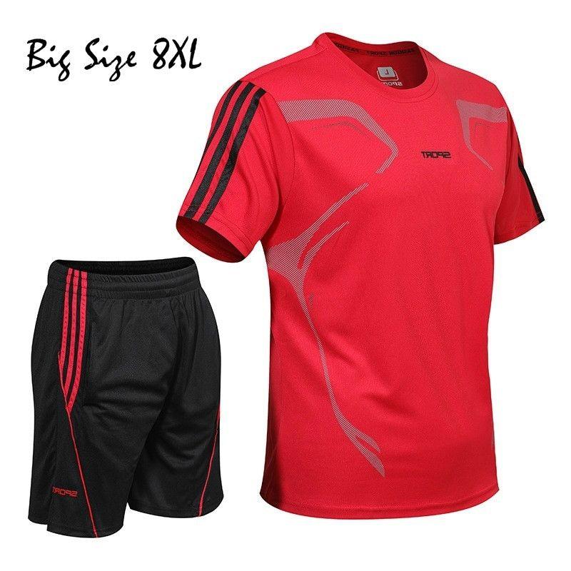 Tracksuit Sauter Outfits 5XL-8XL Hommes Sweat Jogger Set Pantalon Sport Pantalon Été Fashion Fitness Culture Quick-Séchage 210330