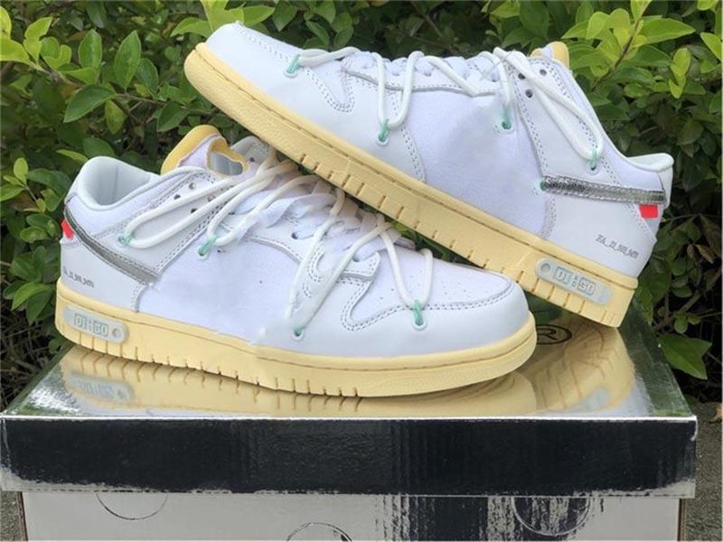 2021 قبالة أصيلة دونك SB 01 من 50 جمع أحذية الشراع الأبيض الأسود 20 منخفضة الرجال النساء الرياضة أحذية رياضية في الهواء الطلق مع صندوق