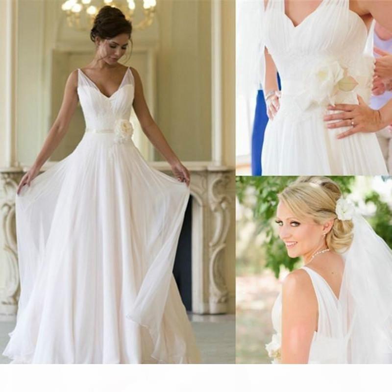 Vintage Boho Summer Beach Wedding Dress High Quality Country Long Garden Bridal Party Gown Plus Size Bohemian Vestido De noiva