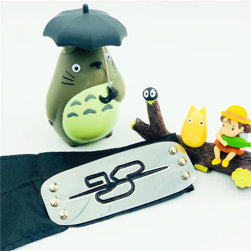 2021 Anime With Leather Bag Short Naruto Guard Forehead Konoha Animation Peripheral Props Manufacturers Spot Wholesale