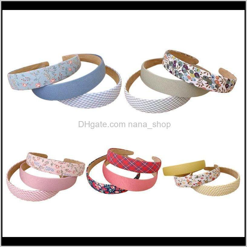 Aessories Ferramentas Products Drop entrega 2021 3 pcs Mulheres Headband Vintage Manta Floral Sólida Bandana Bandana Férias Hoop Iszm