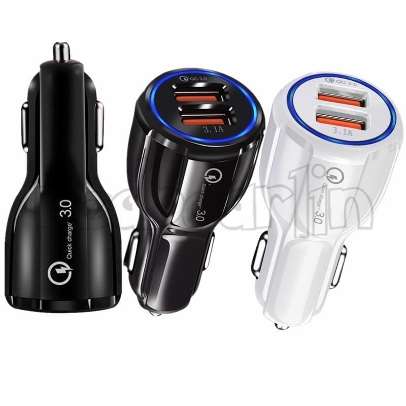 6A 30W محول الطاقة منافذ USB المزدوج شواحن السيارات السريع ل iPhone 7 8 X Samsung PC