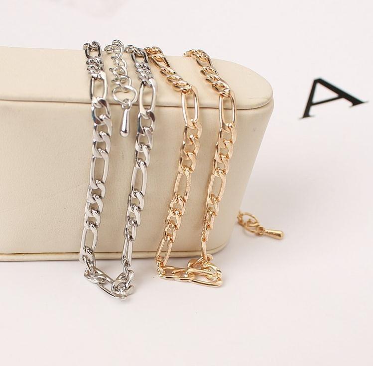 مجوهرات التجارة الخارجية الأوروبية والأمريكية أزياء بسيطة وتنوع سلسلة معدنية خلخال السيدات