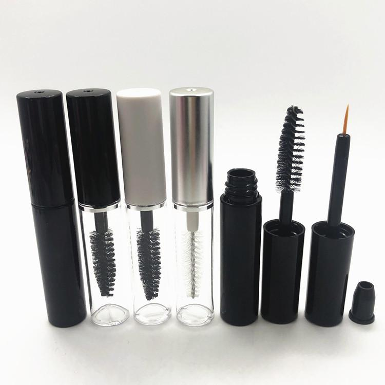 Tube de mascara vide de 4 ml, bouteilles de tube Eyeliner avec baguettes et inserts en caoutchouc pour huile de ricin, kit idéal bricolage cosmétiques