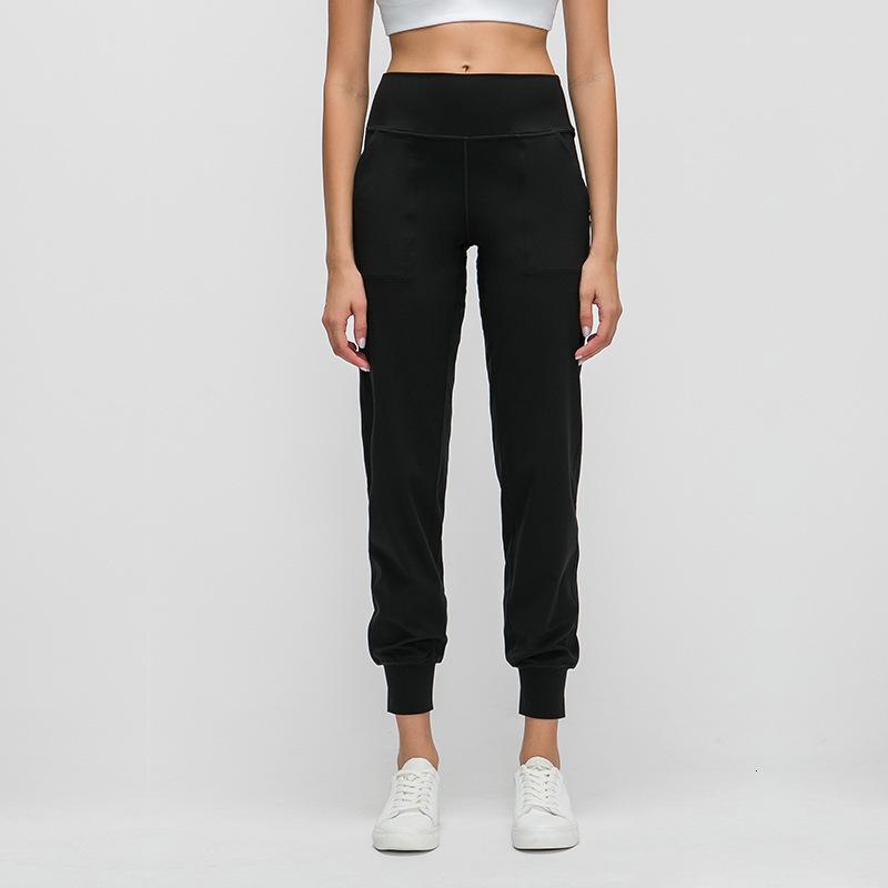 L-29 Frauen Yoga Hosen Slim war eine dünne Yoga-Hose mit Taschen Sport Fitnesshose Mode Dame lose gerade Hosen