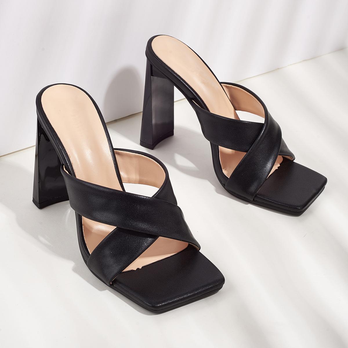 Dieci 2021 sandali da donna tacco alto 10 cm bianco giallo nero grosso tacchi moda abito da esterno abito da sposa ufficio festa