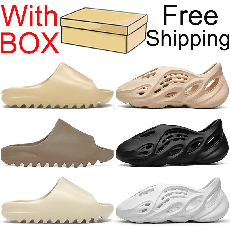 kanye slides sandals slippers shoes 슬라이드 신발 슬리퍼 남성 여성 샌들 스니커즈 아이 폼 러너 야외 실내 슬리퍼 슬라이드 샌들 트레이너