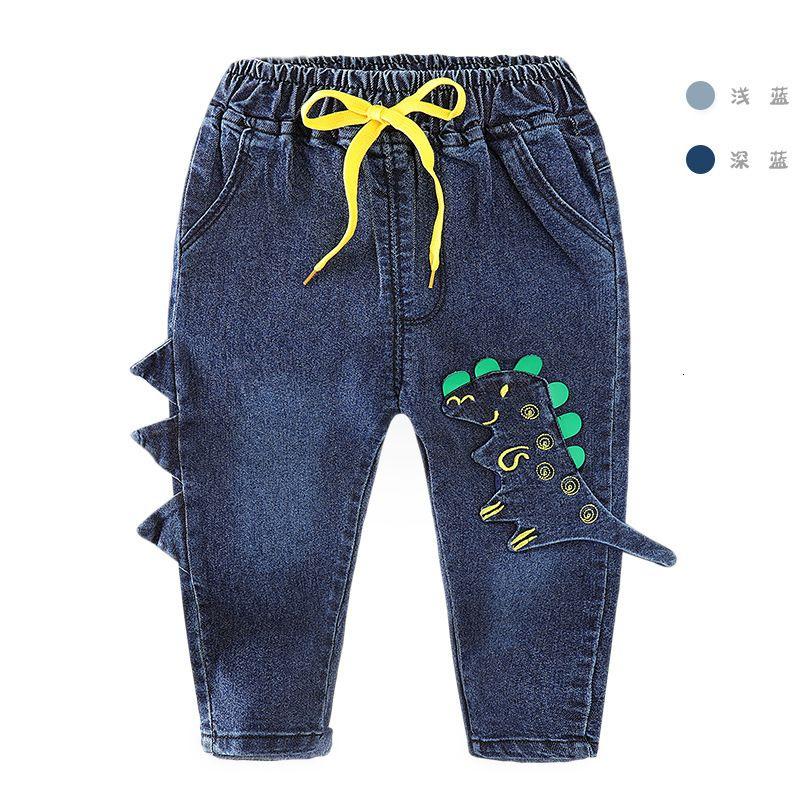 Männer Jungs Jeans 2021 Frühling und Herbst Kinder tragen koreanische Cartoon lange baby baumwollhose fremde stil