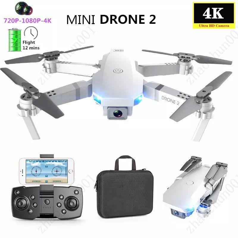 Super E59 RC LED مصغرة تسيطر مع Accessoires بدون طيار 4K HD كاميرا فيديو الهوية التصوير الطائرة طائرات هليكوبتر 360 درجة الوجه wifi عمر البطارية