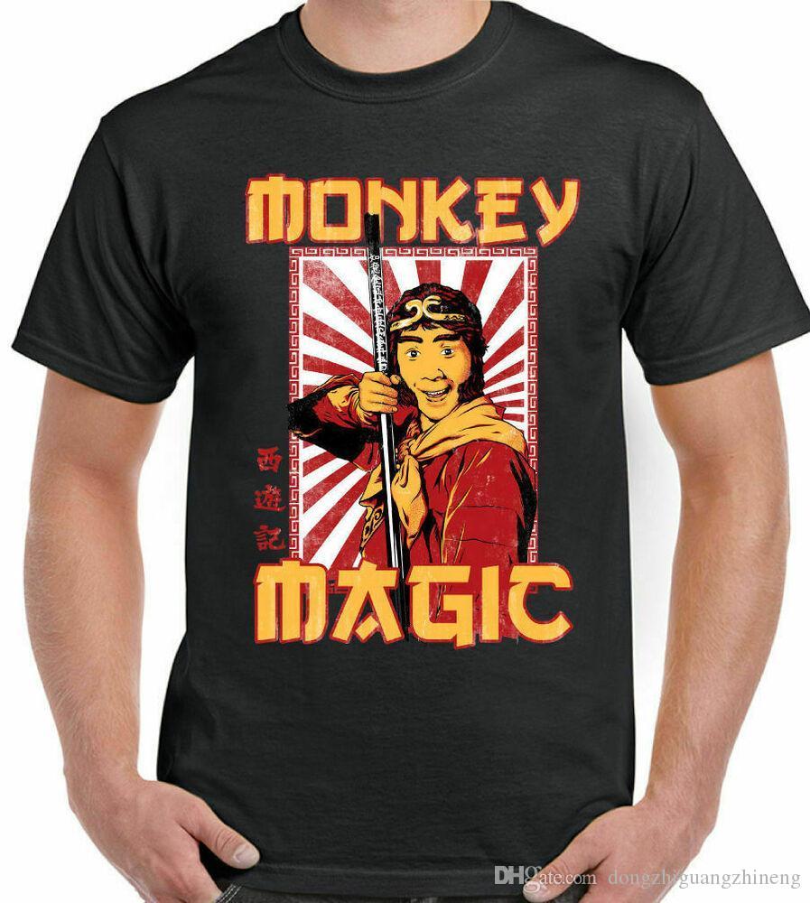 MONKEY MAGIC T-SHIRT Mens Retro Chinese Fantasy TV Show 70's 80's Martial Arts