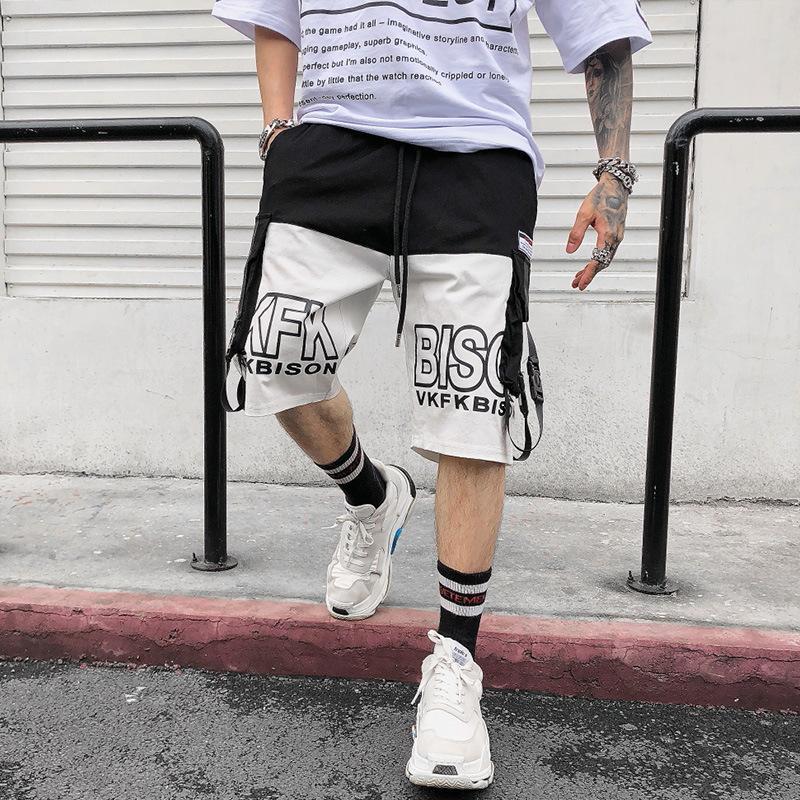 Trendy 202 Casual Takım 5-Point Şort erkek Gevşek Sokak Hip Hop Pantolon Yaz