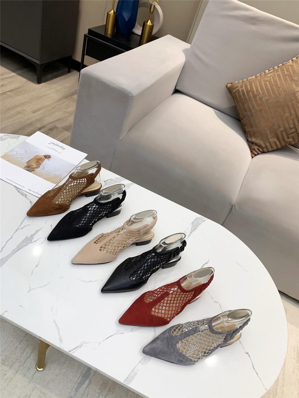 Luxo e sexy design feminino sandálias costuradas grade apontou sapatos de salto baixo salto elástico mulheres sólidas de verão sapatos de gatinho