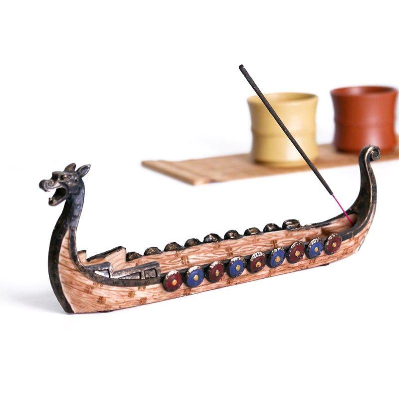 الرجعية التنين قارب البخور الشعلات الإبداعية الراتنج الحلي المنزل الفن الديكور التقليدية الصينية تصميم اليد منحوتة نحت مبخرة