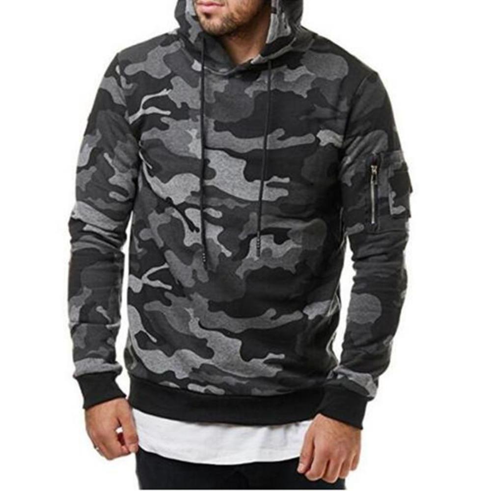 Fit Casual Hoody Kleidung Hombre Hip Hop Hoodie Trainingsanzug Camouflage Sweatshirt Männer Slim Neue Mode Männlich